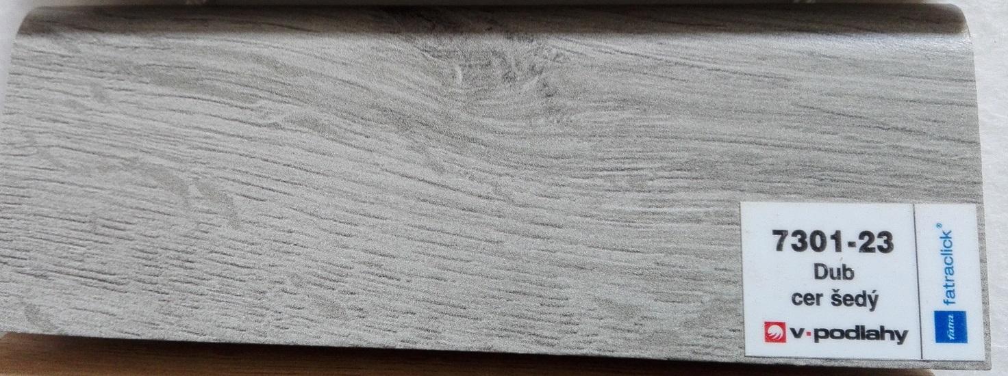 FatraClick soklová lišta Dub cer šedý 7301-23