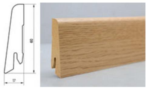 Egger lišta 60x17mm L322 (H1051 Dub Verdon bílý)